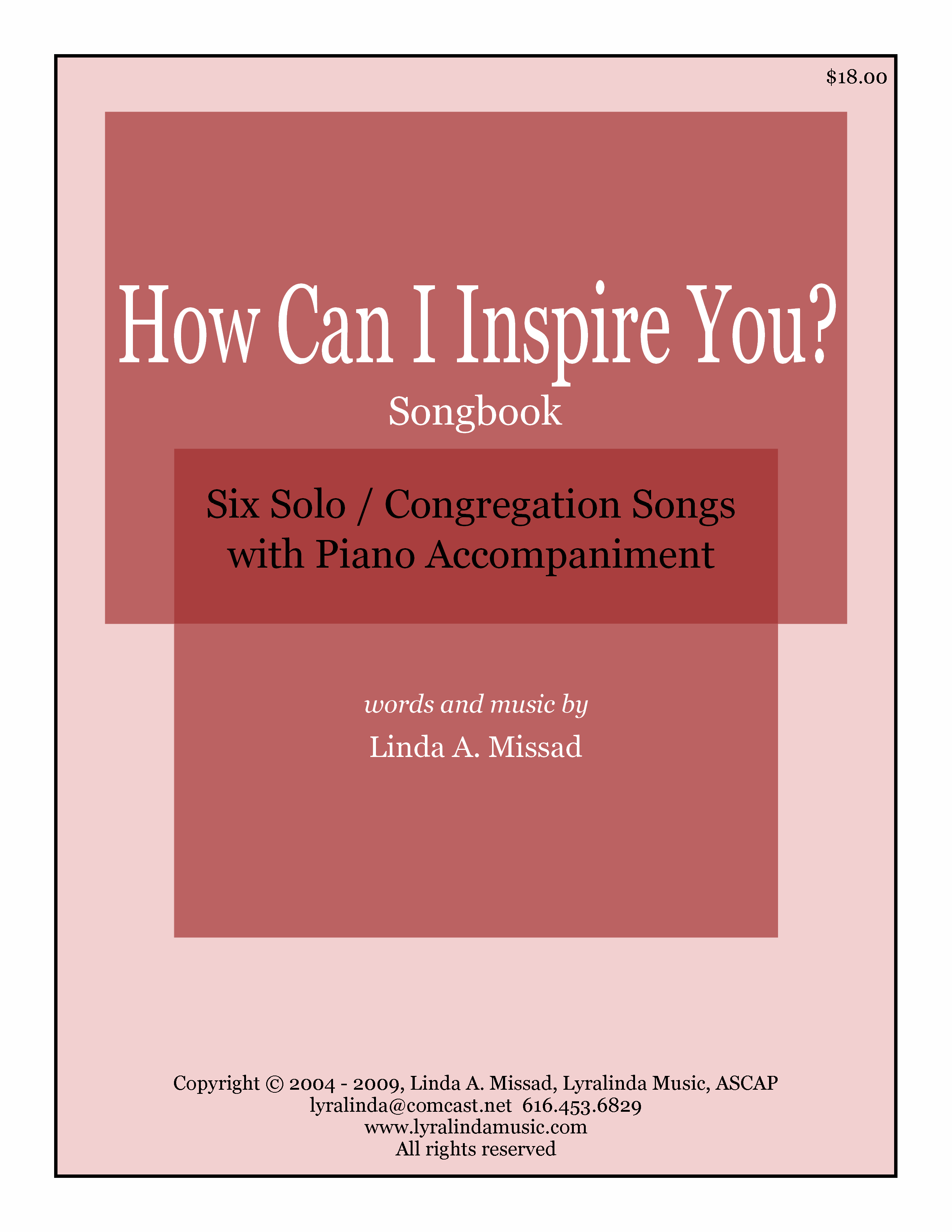 How Can I Inspire You - Songbook